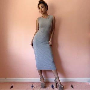 Cheap Monday Heather Grey Midi Dress